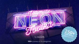 How To Create A Business Card 20 Amazing Neon Typography After Effect Templates Pixel