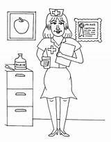 Coloring Nurse Nurses Printable Sheets Bestcoloringpagesforkids Nursing Colouring Week National Drawing Medical Disney sketch template