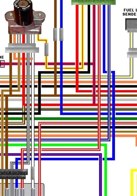 kawasaki kz1000 a4 german spec electrical colour wiring diagram