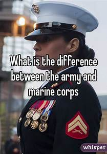 What is the difference between the army and marine corps