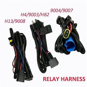 Relay Wiring Harness For High  Low Beam Hid Xenon Kit For