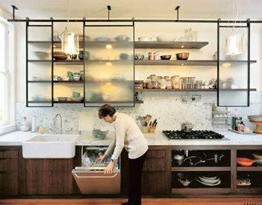 portes coulissantes cuisine fabriquer portes coulissantes pour étagères cuisine