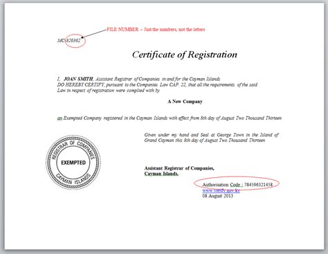 certification of documents certificate and sted document validation