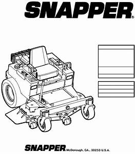 Snapper Lawn Mower Mzm2300kh User Guide