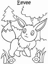 Pokemon Coloring Pages Anime Printable Eevee Printables Colouring Characters sketch template