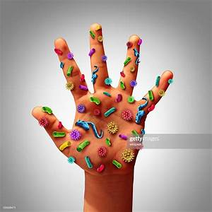 Hand Germs Stock Photo