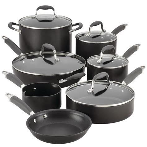 cookware anolon sets nonstick advanced hard anodized piece gray pc gas range oven inch kitchen double meyer ge traditional 12pc