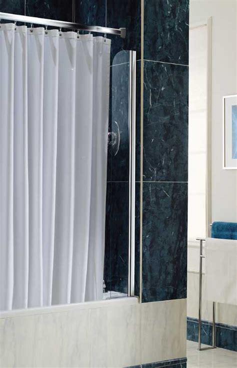 Chrome shower curtain screen. Coram Screens C 07SCS15CUCC