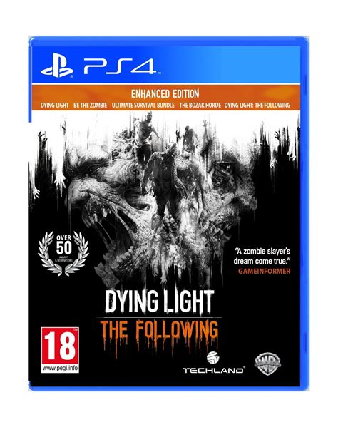 dying light for ps3 dying light the following enhanced edition