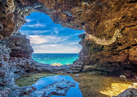 Ocean Cave HD Wallpaper | Background Image | 2048x1457 ...