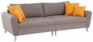 Couch Home Affaire : home affaire big sofa jordsand mit feiner steppung und ~ Lateststills.com Haus und Dekorationen