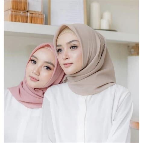 hijab bella square jilbab segi empat part  shopee indonesia