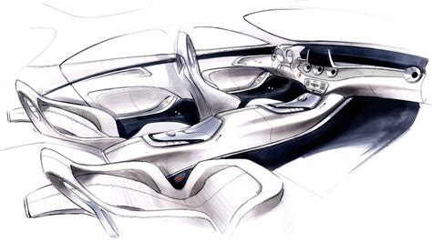 mercedes benz concept style coupe design interior sketch