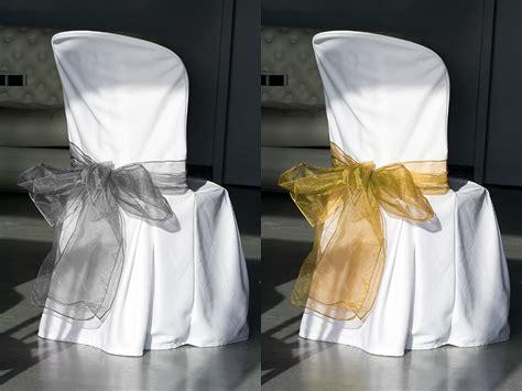 noeud chaise noeuds de chaise en organza mariage housses de chaise