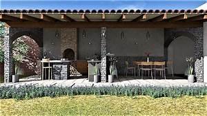 Cocina, Jard, U00edn, De, Argal, Arquitectura