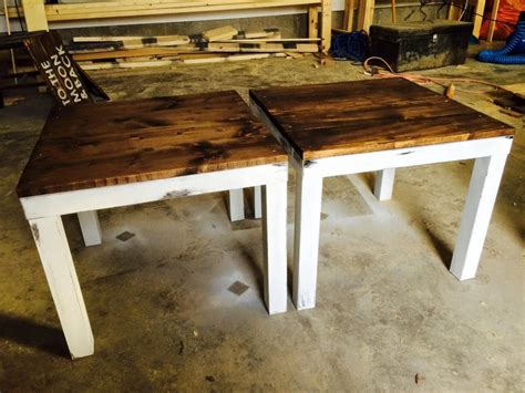 This lack table in white is easy to match with other furnishings. IKEA LACK end table hack. Painted black LACK tables white, distressed paint…   Ikea lack coffee ...