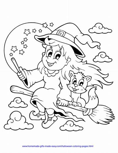 Coloring Halloween Pages Pdf Printable Printables Cat