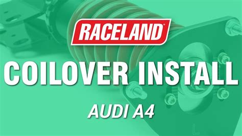 install raceland audi   coilovers youtube