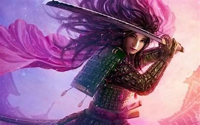 Samurai Warrior Fantasy Legend Five Rings Female