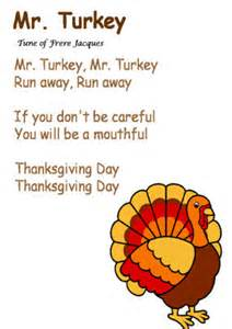 quot mr turkey quot song to the tune of frere jacques november thanksgiving songs