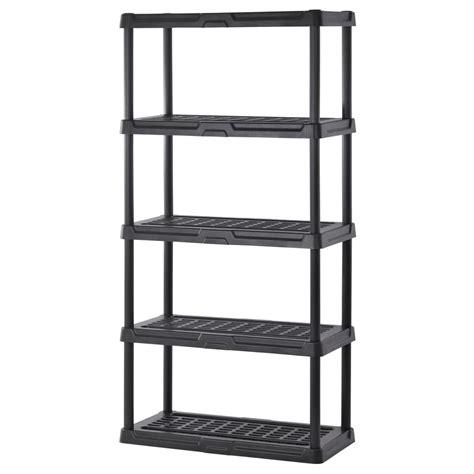 home depot shelf sandusky 72 in h x 36 in w x 18 in d 5 shelf black