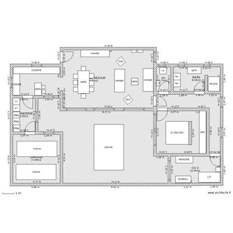 plan maison piscine interieure villa piscine interieure plan 9 pi 232 ces 181 m2 dessin 233 par dentelle