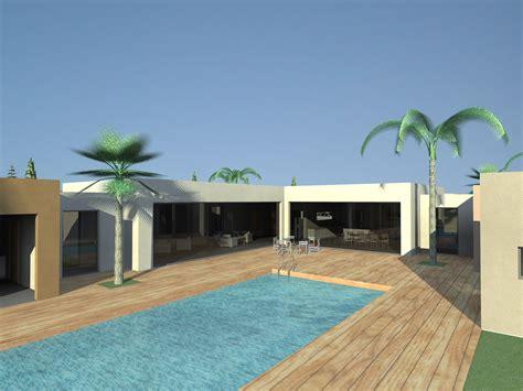 plan maison plain pied 4 chambres faites construire votre villa haut de gamme au llaro à