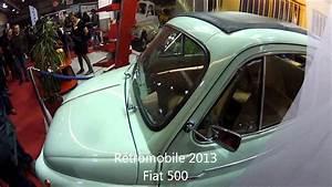 Fiat 500 Ancienne : fiat 500 ancienne r tromobile 2013 youtube ~ Medecine-chirurgie-esthetiques.com Avis de Voitures