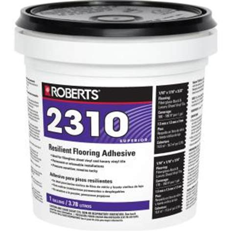 linoleum flooring glue roberts 2310 1 gal premium fiberglass and luxury vinyl tile glue adhesive 2310 1 the home depot