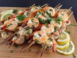 Garlic And Herb Shrimp Skewers Recipe — Dishmaps
