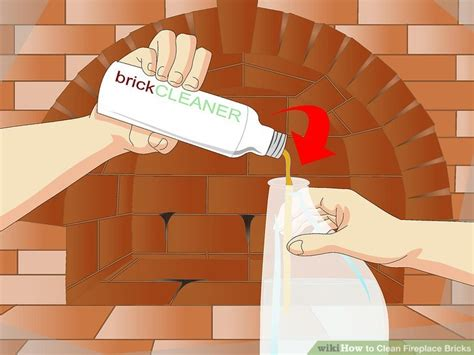 how to clean bricks around fireplace how to clean fireplace bricks 11 steps with pictures