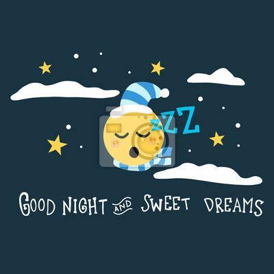möbel mit o bonne nuit et doux r 234 ves lune vector illustration de dessin anim 233 papier peint papiers peints