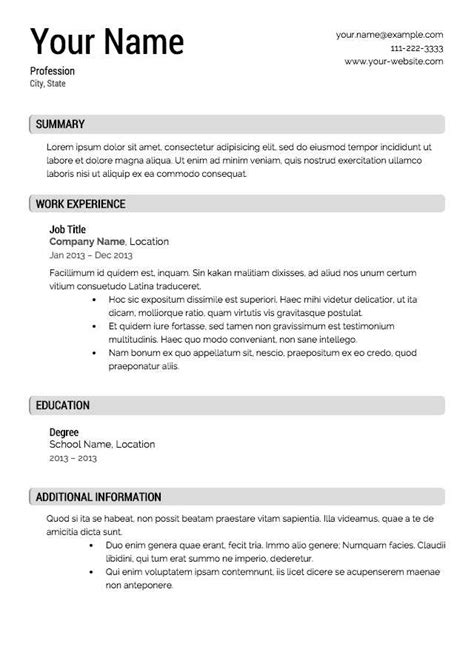 Free General Resume Template by 14 15 General Resumes Templates Southbeachcafesf
