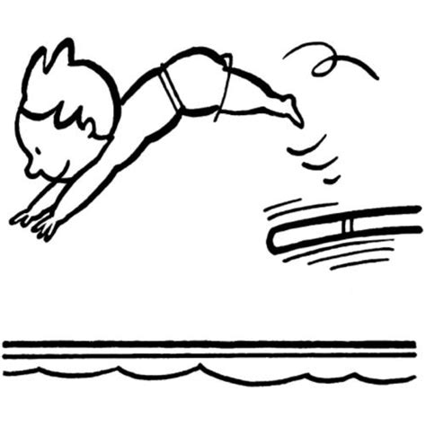kostenlose malvorlage sport sprungbrett zum ausmalen