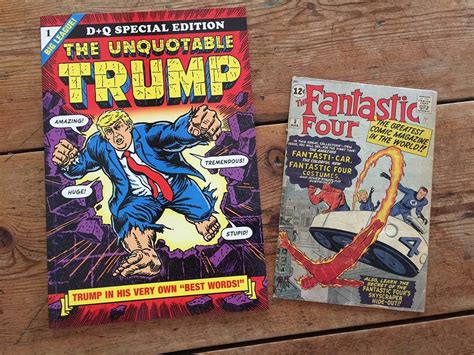 Trump's Dumbest Utterances Presented As Comic Book Covers
