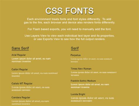 css fonts export kit