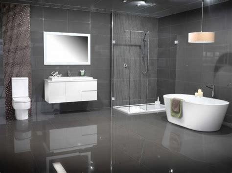 modern bathroom colors grey tiles white floating vanity