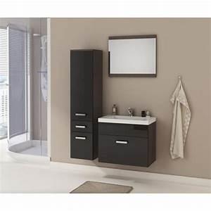 Salle De Bain Complete : alida salle de bain compl te simple vasque l 60cm laqu ~ Dailycaller-alerts.com Idées de Décoration