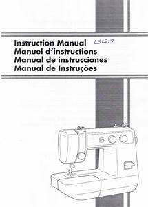 Brother Ls1217 Sewing Machine Operation Operating User U0026 39 S