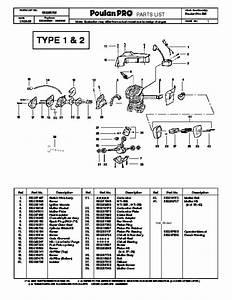 Poulan Pro 295 Chainsaw Parts List  2008