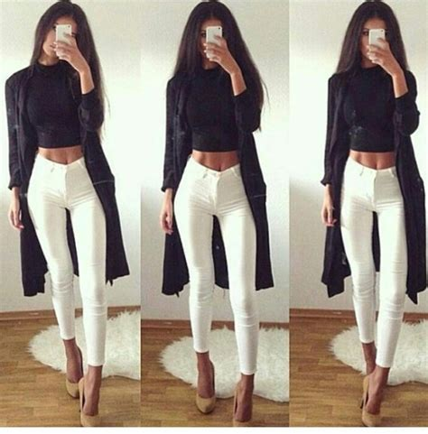 Jeans skinny jeans high waisted jeans white jeans pants skinny pants white pants high ...