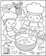 Coloring Pizza Cooking Pages Kitchen Printable Clipart Popular sketch template