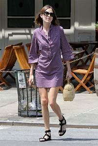 Dressing New York : alexa chung leggy in mini dress new york city 7 16 2016 ~ Dallasstarsshop.com Idées de Décoration