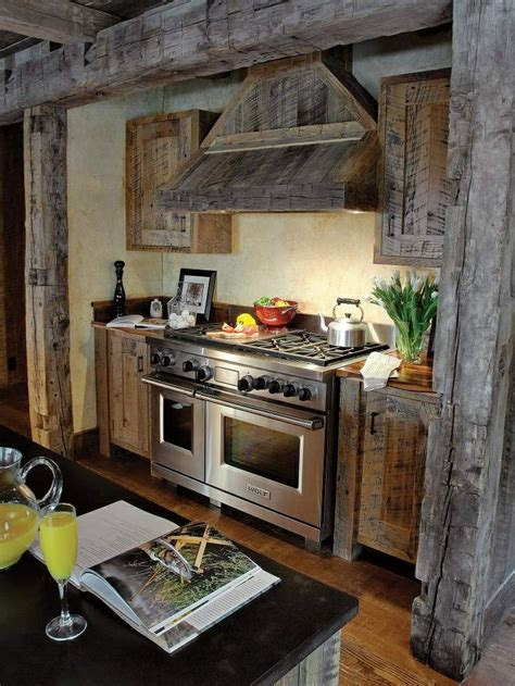 barn wood kitchen cabinets the rustic cabinets and great stove rustic 7155