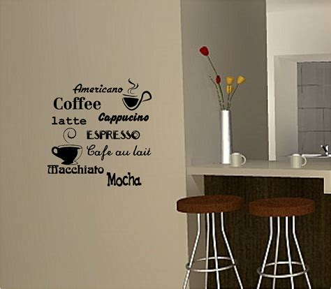 ideas to decorate a kitchen coffee wall sticker vinyl quote kitchen cafe ebay