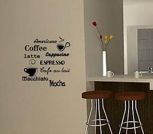 Coffee wall art sticker vinyl quote kitchen cafe
