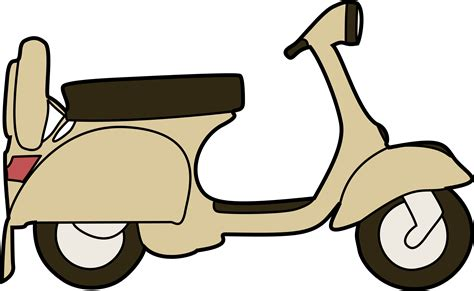 Vespa Image by Vespa Scooter Vector Clipart Image Free Stock Photo