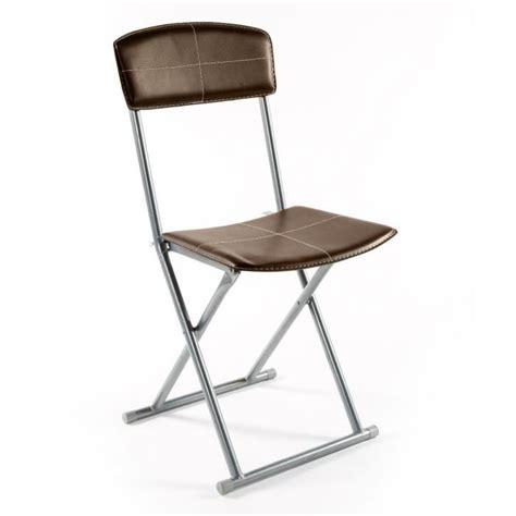 lot de 4 chaise chaise pliante simil cuir marron stella lot de 4 achat