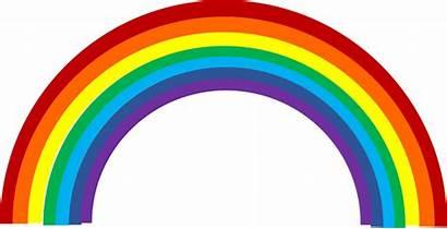 Rainbow Clipart Printable Clip Transparent Pretty Vector