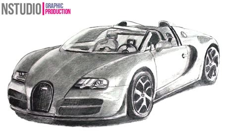 how to draw bugatti veyron sport car step by step car